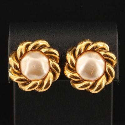 Vintage Chanel Earrings with Twist Motif