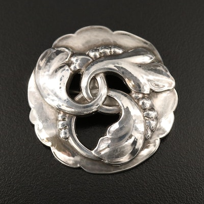 Circa 1954 Georg Jensen Sterling #20 Brooch