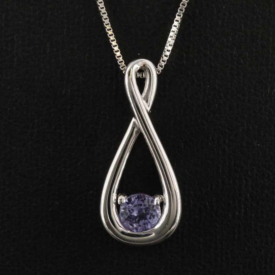 Sterling Tanzanite Pendant Necklace