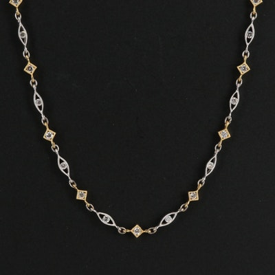La Reina 18K Diamond Necklace