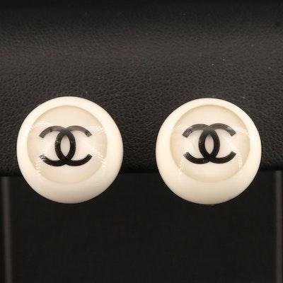 Chanel Non-Pierced, Spring 2001 Collection, CC Logo Button Earrings
