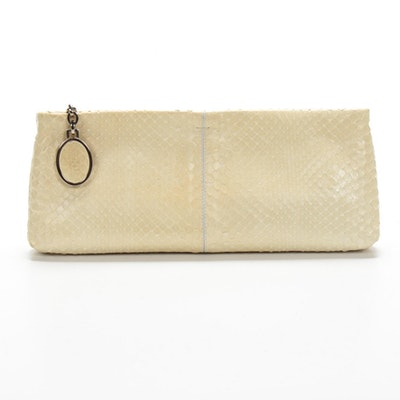 Tod's Clutch Purse in Cream Python Skin