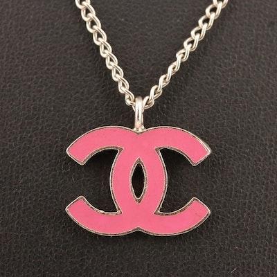 Chanel Spring 2004 Collection Enamel Logo Necklace