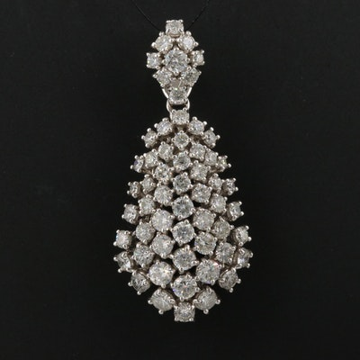 14K 5.02 CTW Diamond Cluster Pendant