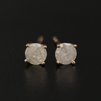 14K 0.60 CTW Diamond Stud Earrings