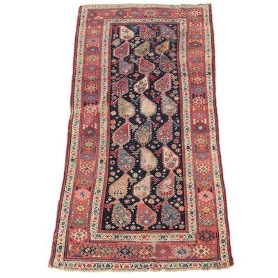 3'9 x 8'0 Hand-Knotted Caucasian  Kazak Wool Long Rug
