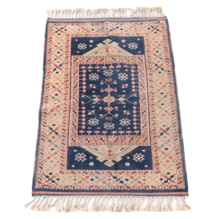 4'1 x 7'2 Hand-Knotted Turkish Yörük Wool Rug