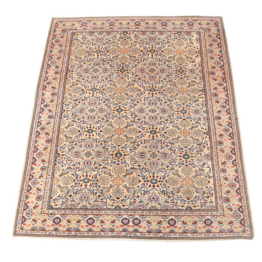 7'0 x 9'11 Hand-Knotted Persian Wool Rug
