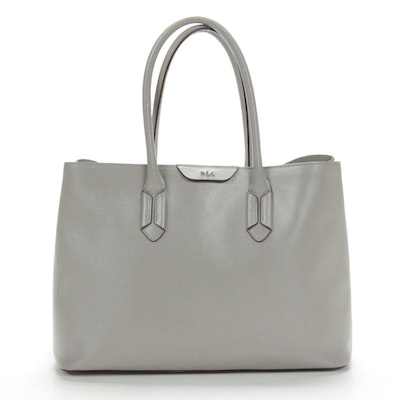 Lauren Ralph Lauren Grey Leather Satchtel