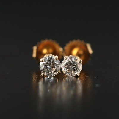 14K 0.75 CTW Diamond Stud Earrings