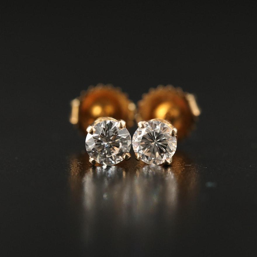 14K 0.75 CTW Diamond Stud Earrings