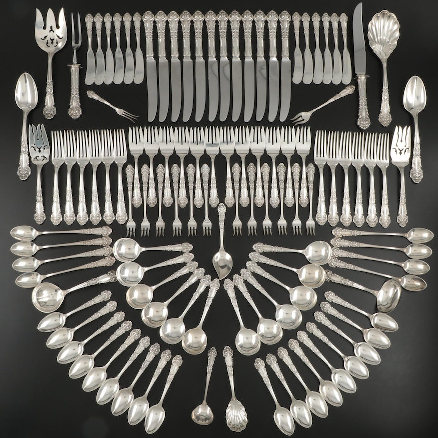 "Reed & Barton ""French Renaissance"" Sterling Silver Flatware and Serving Utensils"