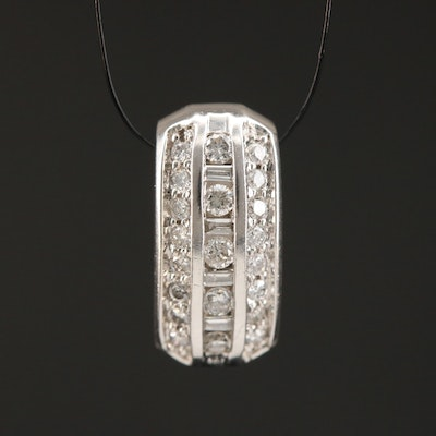 14K Diamond Slide Pendant