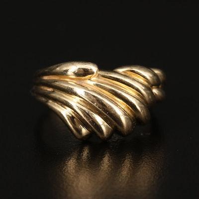 14K Wave Ring