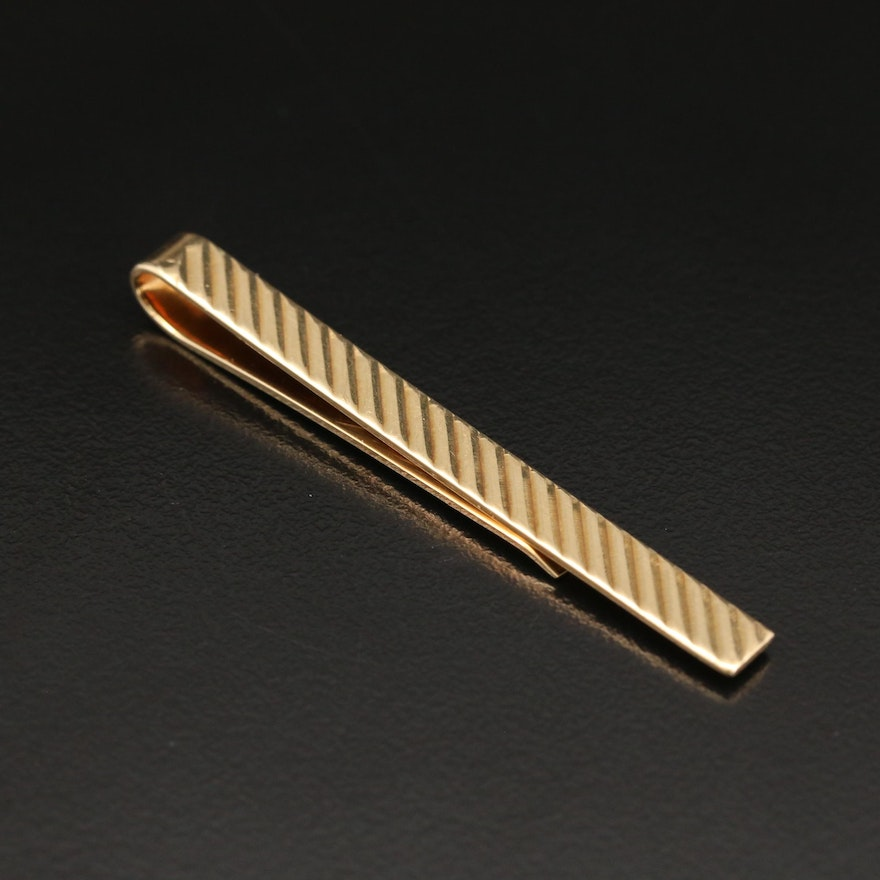Vintage Larter & Sons for Tiffany & Co. 14K Tie Bar