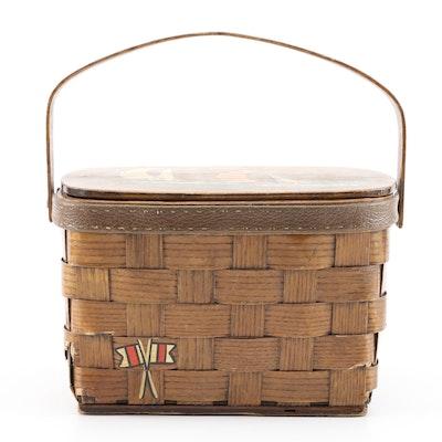 """Caro-Nan """"Mitchell's"""" Nautical Basket Handbag"""