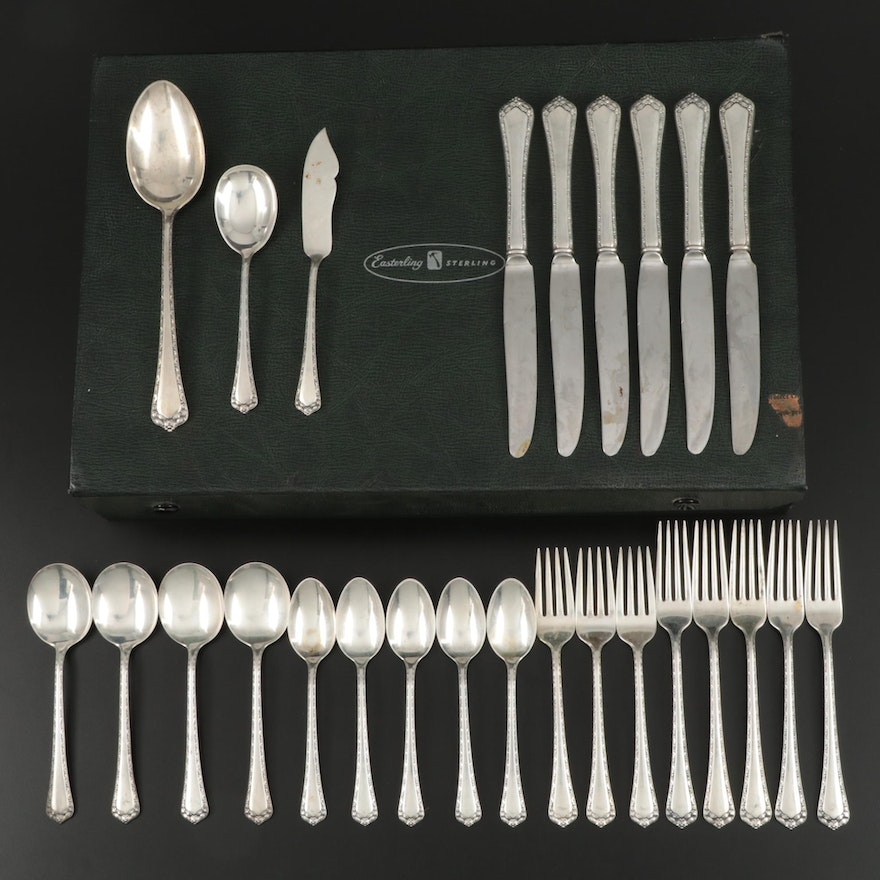 "Easterling ""Rosemary"" Sterling Silver Flatware and Serving Utensils"