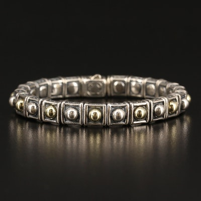 Caviar by Lagos Sterling Silver Bracelet with 18K Accents