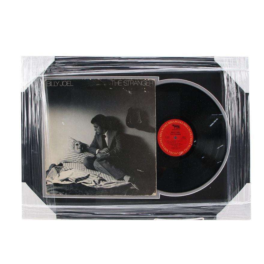 """Billy Joel """"The Stranger"""" Vinyl LP Record Album Framed Music Display, CEI Sports"""