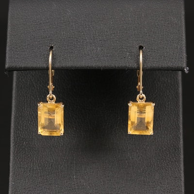 14K Citrine Dangle Earrings