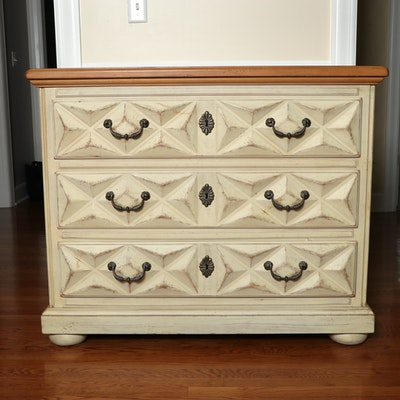 Drexel Geometric Carved Accent Chest of Drawers