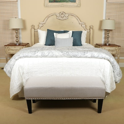 "Habersham ""Normandy"" Carved Sandemar Finish Queen Bed"