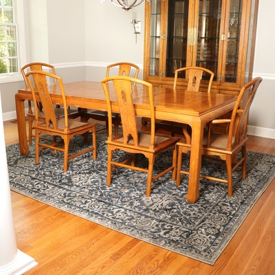 "Century ""Sobota Collection"" Asian Inspired Dining Table and Cane Seat Chairs"