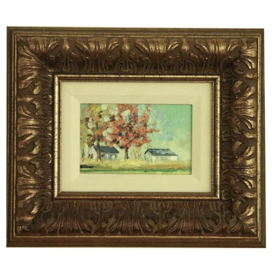 "Karin Sheer Oil Painting ""Kentucky Farm"""