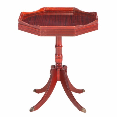 Classical Style Mahogany Pedestal Side Table