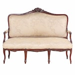 Victorian, Rococo Revival Carved Walnut Settee, Late 19th Century