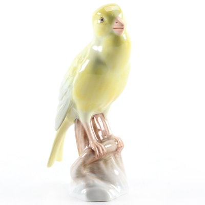 "Herend Natural ""Canary"" Porcelain Figurine, 1948"