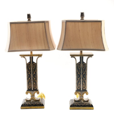 Excelsior Distressed Painted Resin Table Lamps