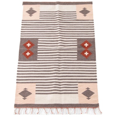 Handwoven Southwestern Style Wool Textile Wall Hanging