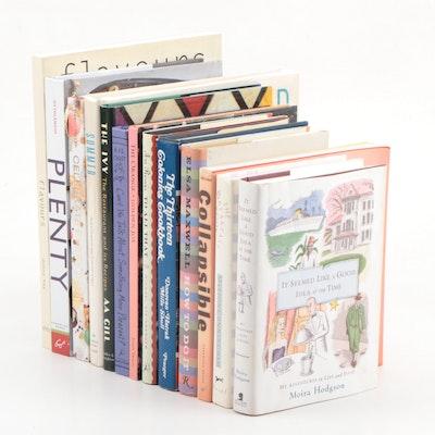 "Cookbooks, Design, and Entertaining Books Including ""Plenty"" by Yotam Ottolenghi"