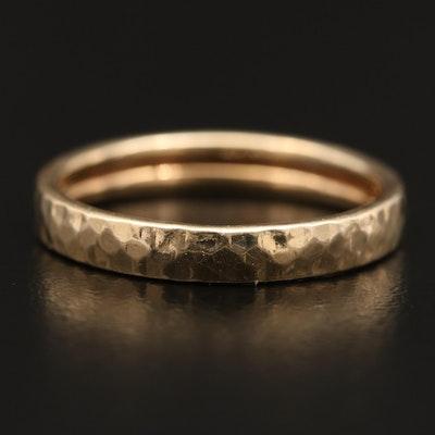 14K Gold Textured Band