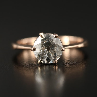 Vintage 10K 1.15 CTW Diamond Solitaire Ring