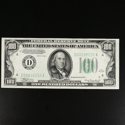 Series of 1934 $100 Federal Reserve Note
