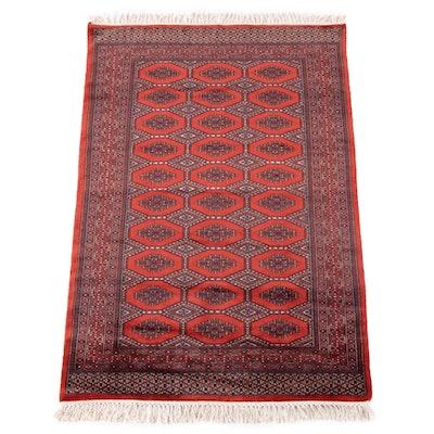 3'11 x 6'6 Hand-Knotted Afghani Bokhara Wool Rug