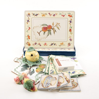 "Royal Worcester ""Portmeirion"" Chopping Board, Napkins, Place Mats, and More"