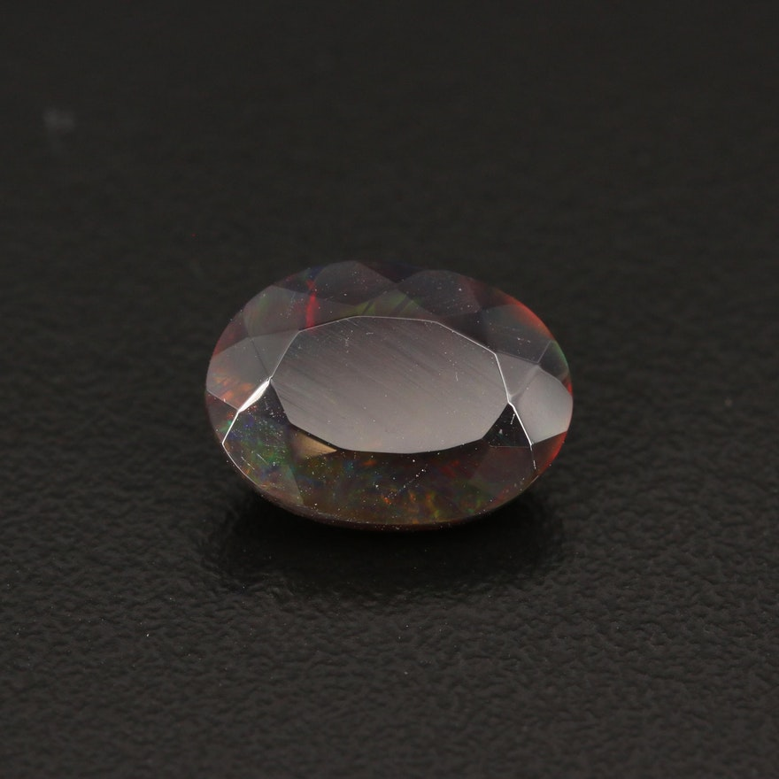 Loose 3.49 CT Oval Faceted Opal