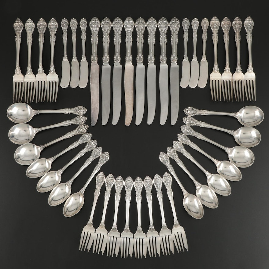 "Gorham ""King Edward"" Sterling Silver Flatware, Mid-20th Century"