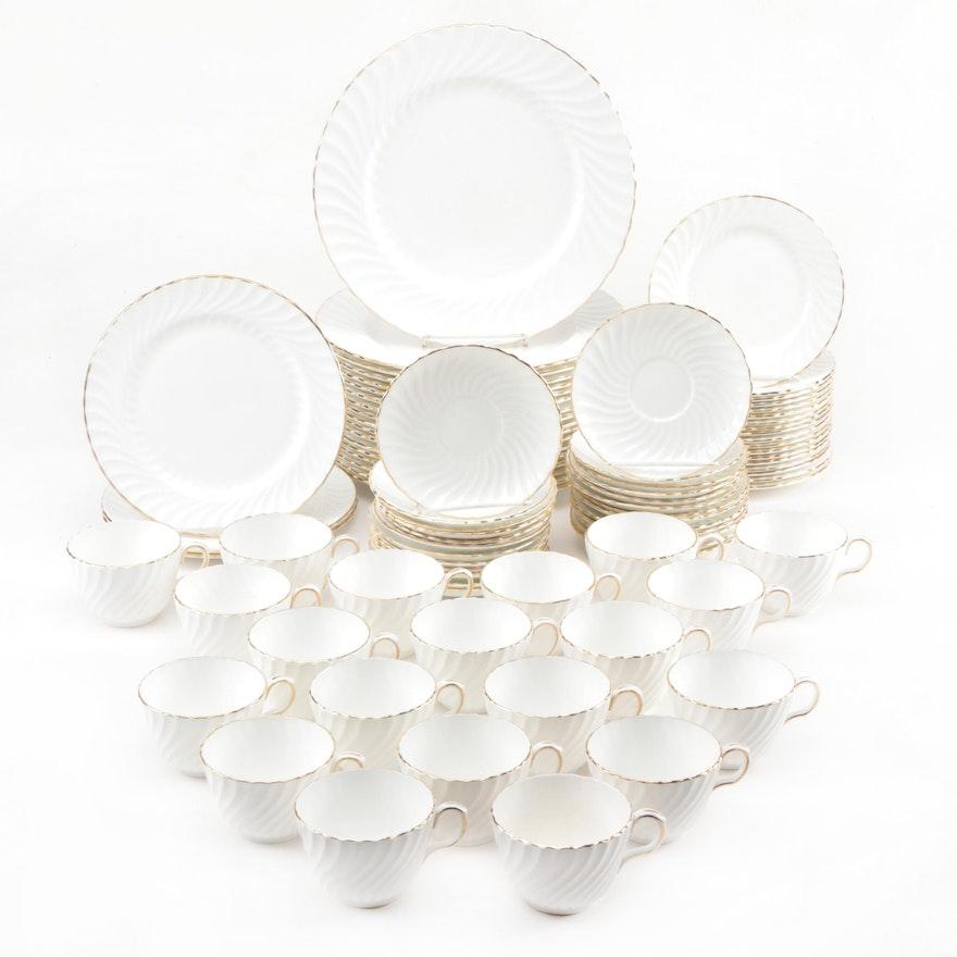 "Aynsley ""Simplicity"" Bone China Dinnerware Pieces, 1964-1976"