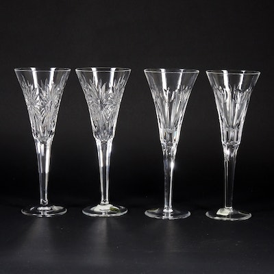 "Waterford Crystal ""The Millennium Collection"" Toasting Flutes, 1996–2005"