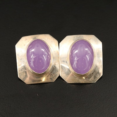 Inca Sterling Amethyst Drop Earrings