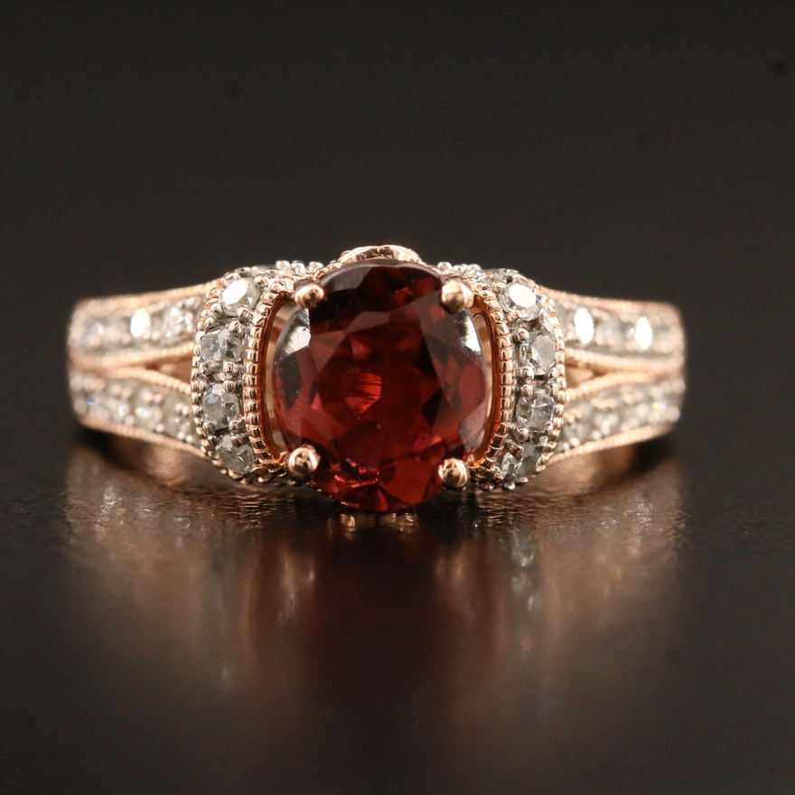 14K Tourmaline, Chrysoberyl, and Diamond Ring