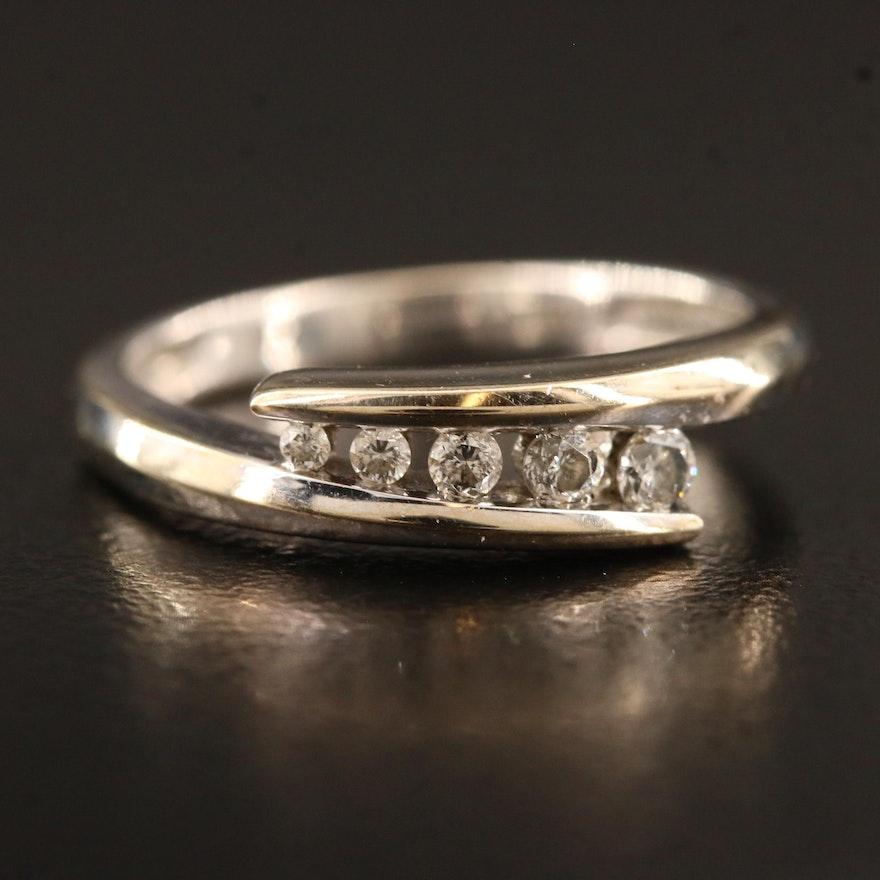 10K Diamond Bypass Channel Ring