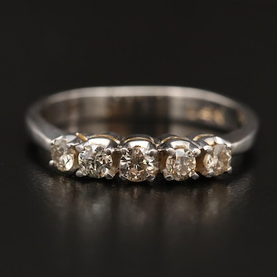 14K Five Stone Diamond Band