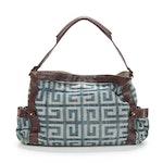 Givenchy Denim and Brown Leather Hobo Bag