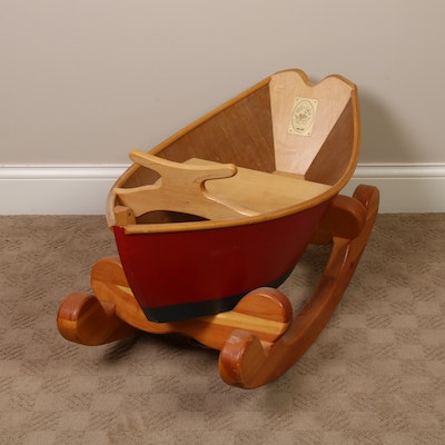 Down East Rockers Wooden Rocking Boat