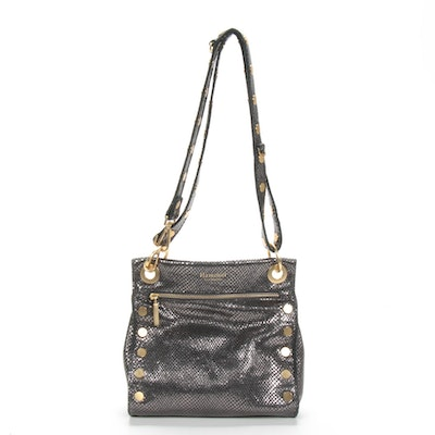 Hammitt Los Angeles Metallic Exotic-Embossed leather Crossbody Bag